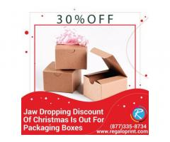 Jaw Dropping 30% Discount Of Christmas Is Out For Packaging Boxes