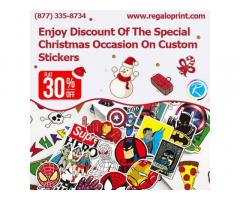 Enjoy 30% Discount Of The Special Christmas Occasion On Custom Stickers
